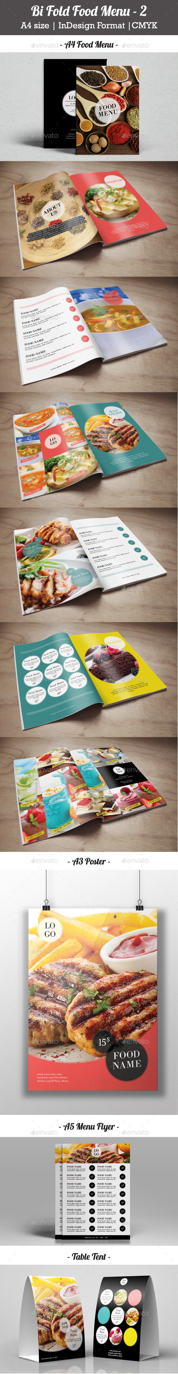 GraphicRiver Bi Fold Food Menu 2 9412594