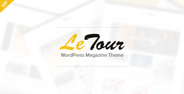 ThemeForest LeTour WordPress Magazine and Blog Theme 9412597