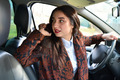woman driving a car talking on the phone  - PhotoDune Item for Sale