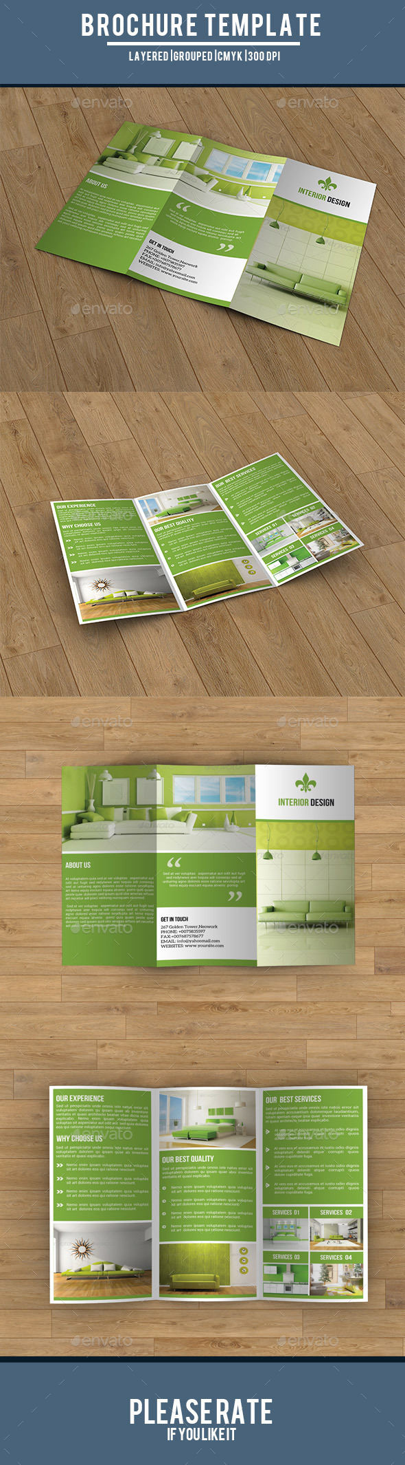 GraphicRiver Trifold Interior Brochure-V182 9412620