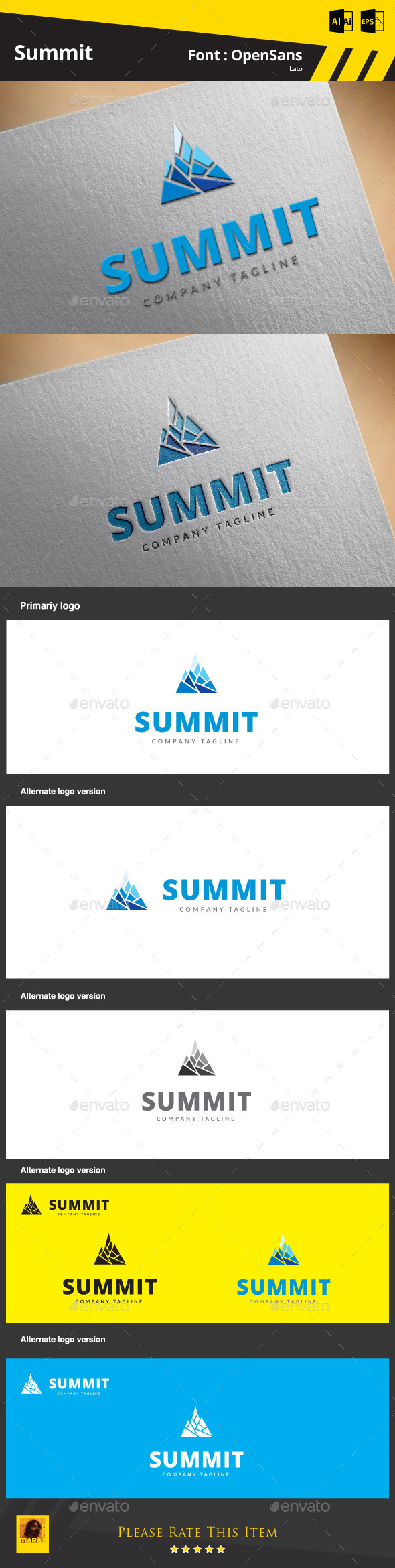 GraphicRiver Summit Logo Template 9412750
