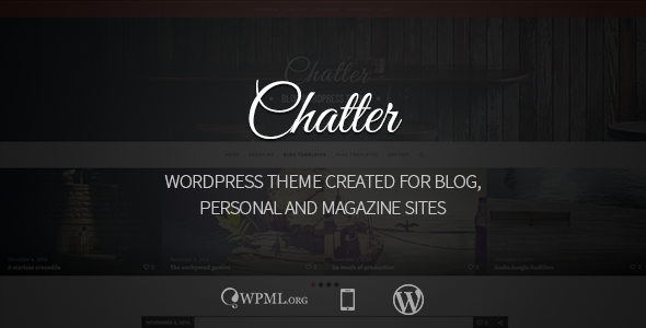 ThemeForest Chatter Responsive WordPress Blog Theme 9412752