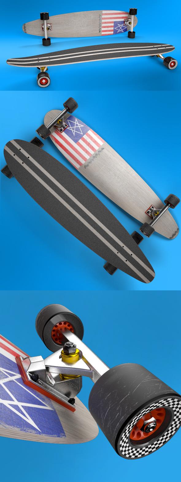 3DOcean Longboard 9412775