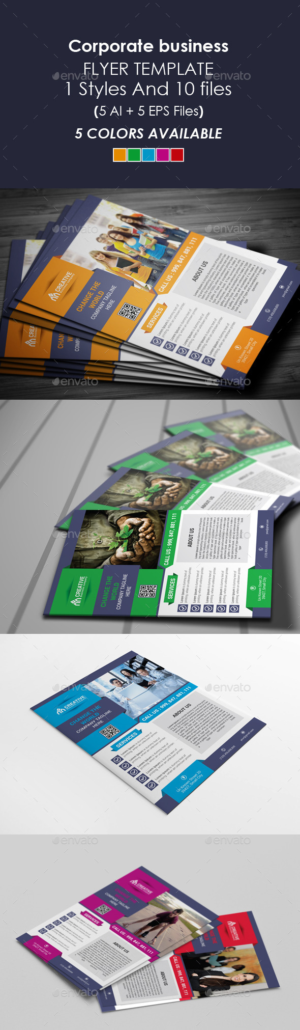 GraphicRiver Corporate Business Flyer Template 9412810