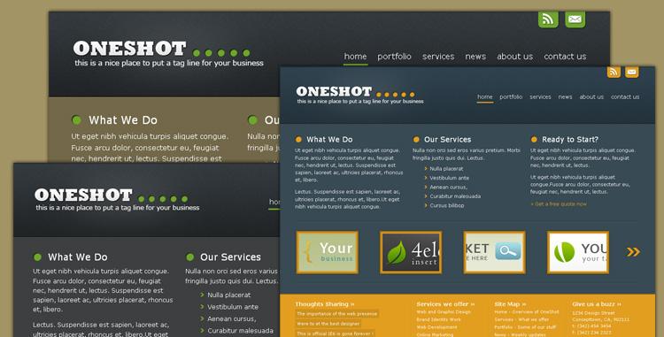 Oneshot - Portfolio/Business Template