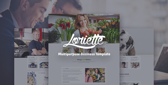 ThemeForest Loriette HTML5 Business Template 9331854