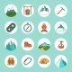 Mountain Icons Flat - GraphicRiver Item for Sale