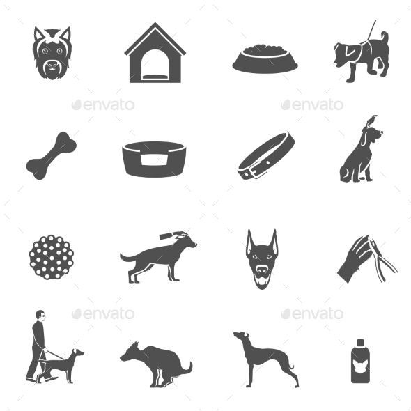 GraphicRiver Dog Icons 9413179