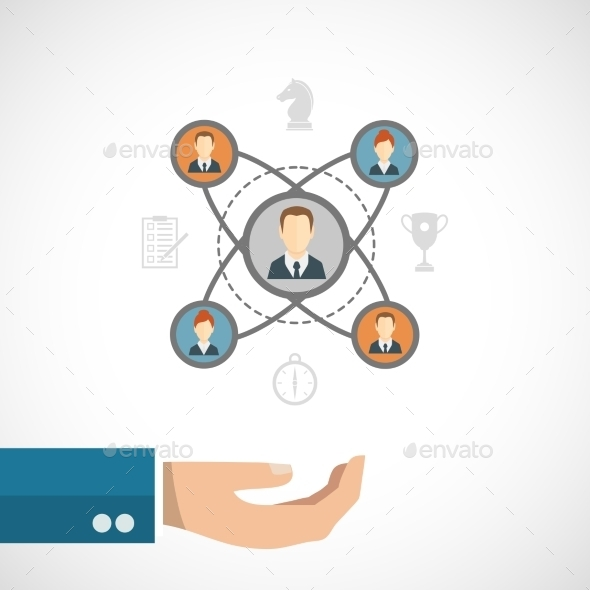 GraphicRiver Connected People Concept 9413253