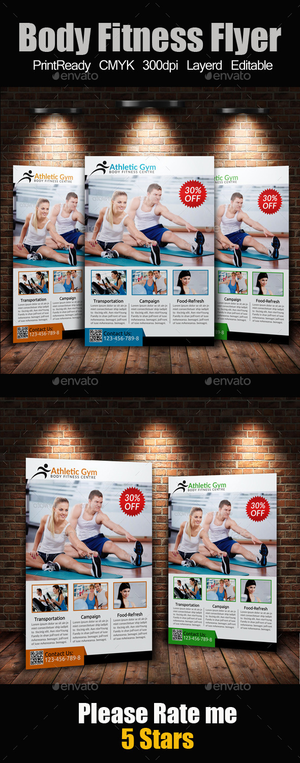 GraphicRiver A4 Body Fitness Flyer 9413254