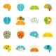 Brain Icons Flat - GraphicRiver Item for Sale