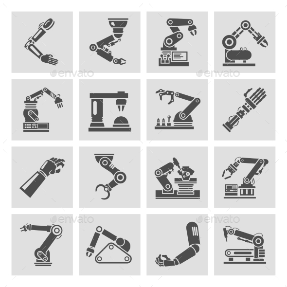 GraphicRiver Robotic Arm Icons 9413342