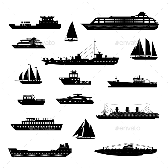 GraphicRiver Ships and Boats Set 9413531