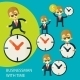 Set of Businessmen and Clock - GraphicRiver Item for Sale