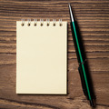 Pen And Notebook On Wooden Table. - PhotoDune Item for Sale