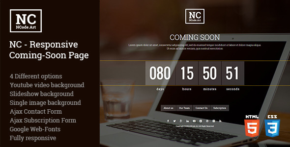 NC Responsive Coming-Soon Page