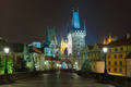Charles Bridge in Prague (Czech Republic) at night lighting - PhotoDune Item for Sale