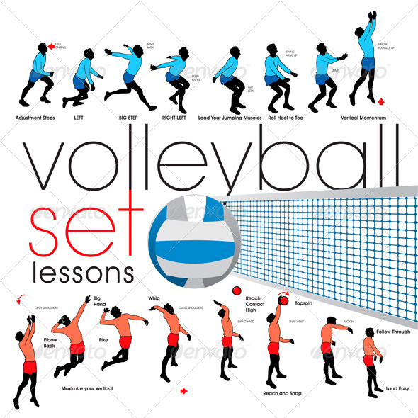 Volleyball Exercises Set