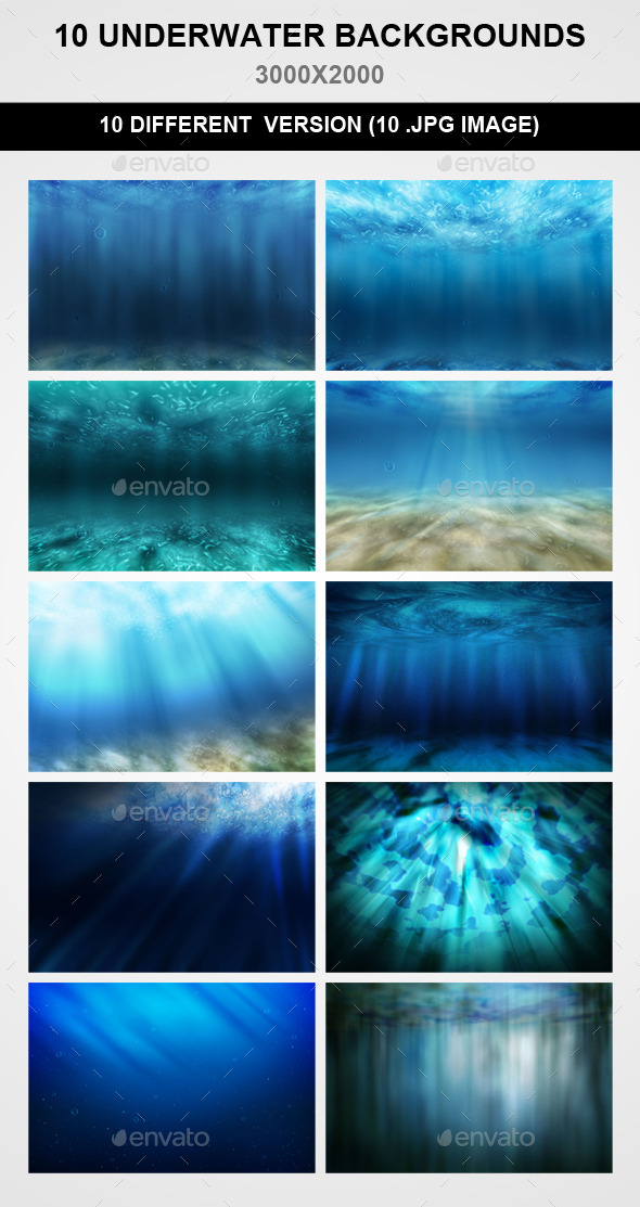 GraphicRiver 10 Underwater Backgrounds 9414052