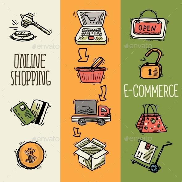 GraphicRiver E-Commerce Design Sketch Banners 9414086