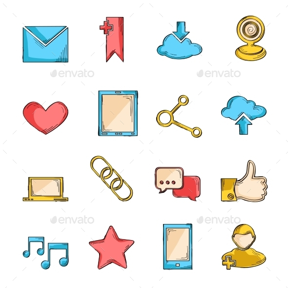 GraphicRiver Social Network Icons Sketch 9414228