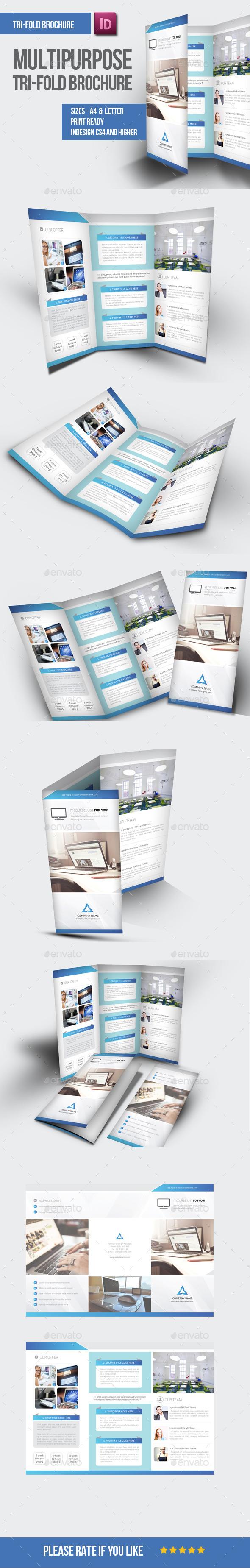 GraphicRiver Multipurpose Tri-fold Brochure 9414243