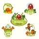 Farm Fresh Labels Colored Set - GraphicRiver Item for Sale