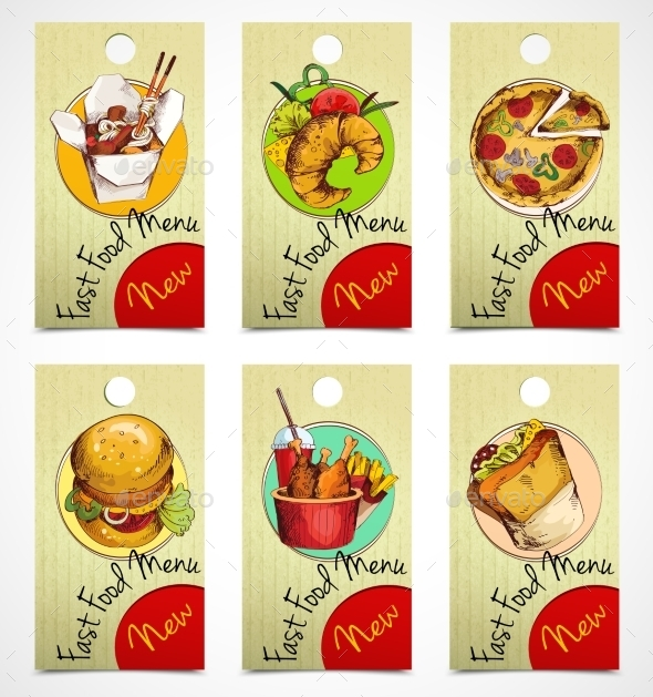 GraphicRiver Fast Food Tags 9414324