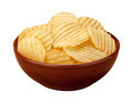 Wavy Chips in a Ceramic Bowl - PhotoDune Item for Sale