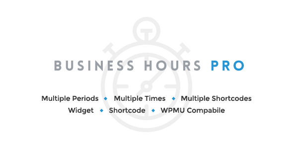 Business Hours Pro is a light weight WordPress Plugin which allows you to display office hours or business hours timings for the working days of the seven succ