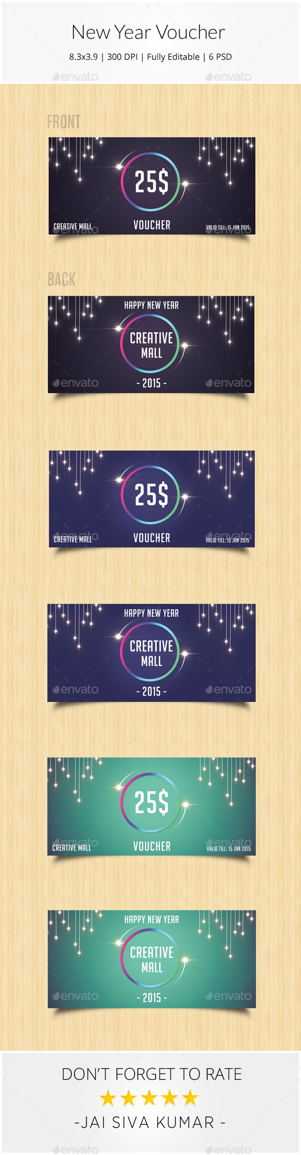 GraphicRiver New Year Gift Voucher 9415003