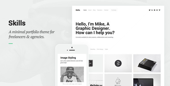 ThemeForest Skills Portfolio for Freelancers & Agencies 8317998