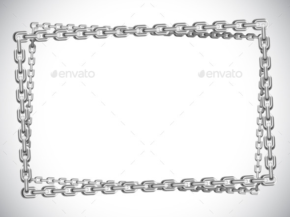 GraphicRiver Metal Chain Frame 9415427