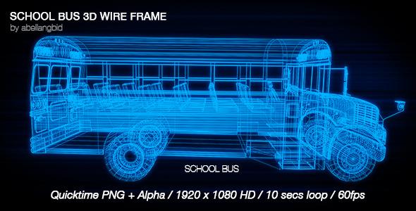 School Bus 3D Wire Frame