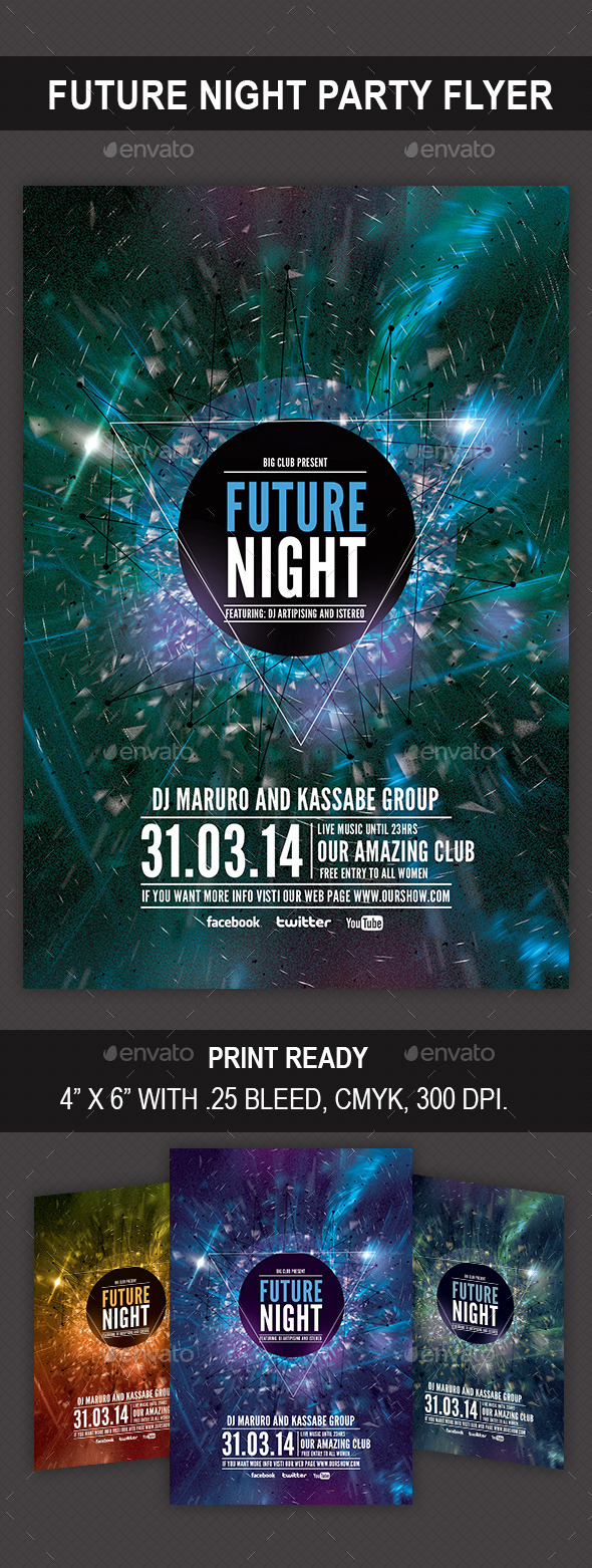 GraphicRiver Future Night Flyer 9421958