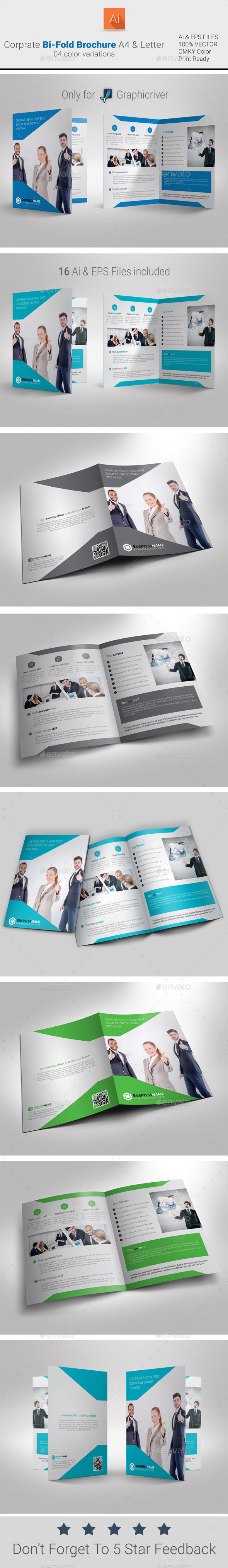 GraphicRiver Corporate Bi-Fold Brochure 9422453