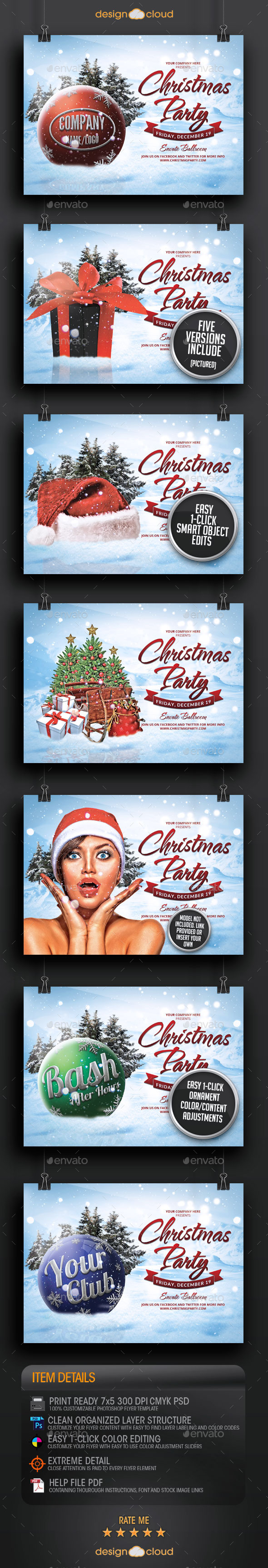 GraphicRiver Christmas Party and Event All Purpose Flyer 9423615