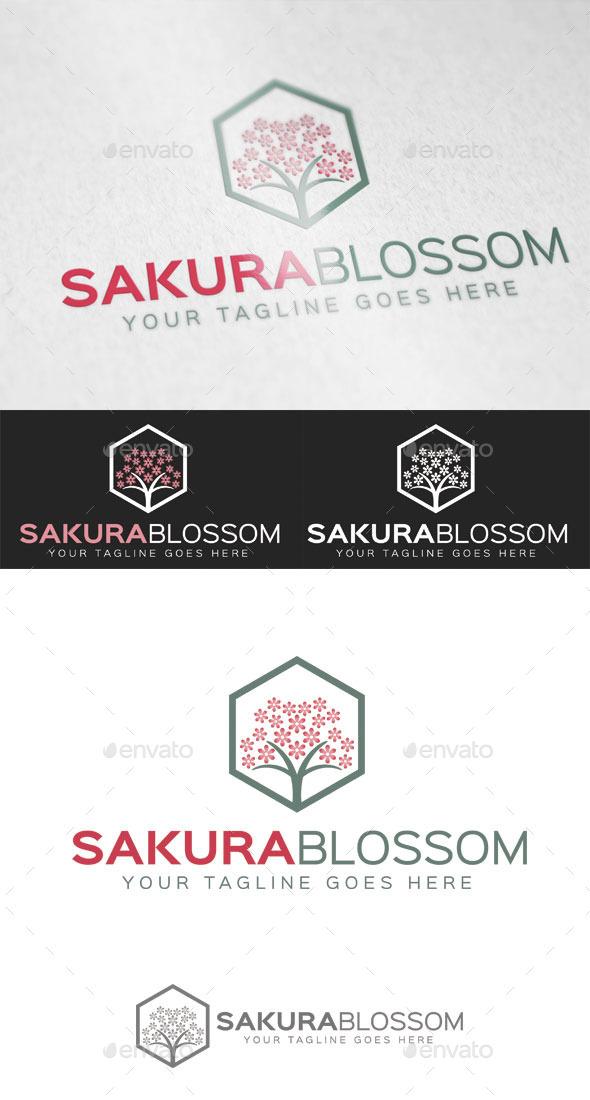 GraphicRiver Sakura Blossom Logo Template 9423760