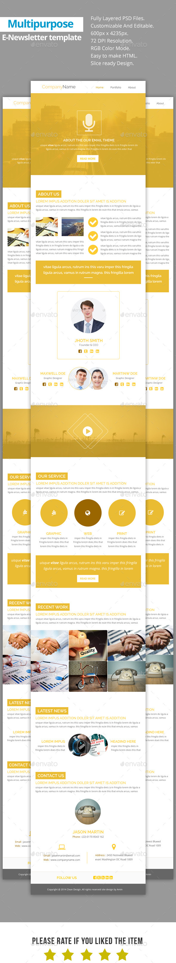 GraphicRiver Glob Multipurpose E-Newsletter Template 9423798
