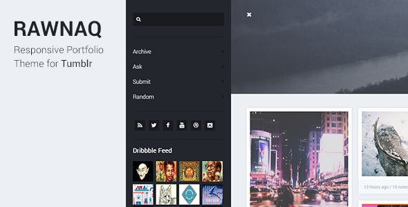 ThemeForest Rawnaq Responsive Portfolio Theme For Tumblr 9315551