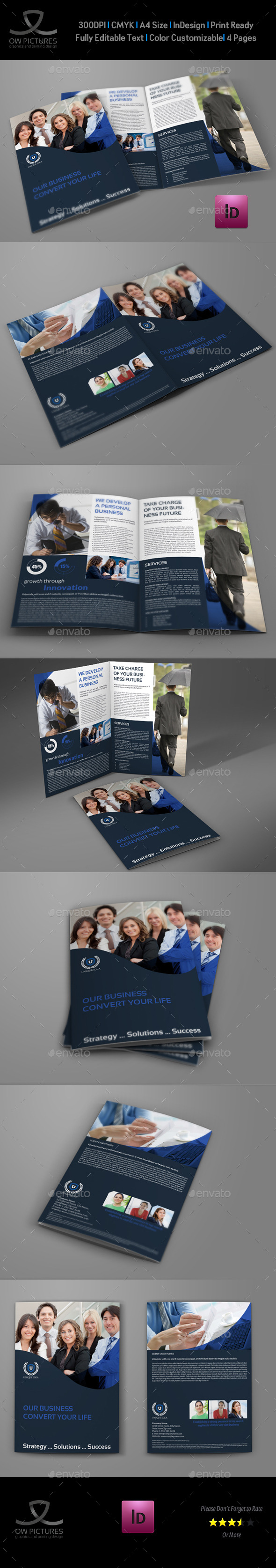 GraphicRiver Company Brochure Bi-Fold Template Vol.36 9424285