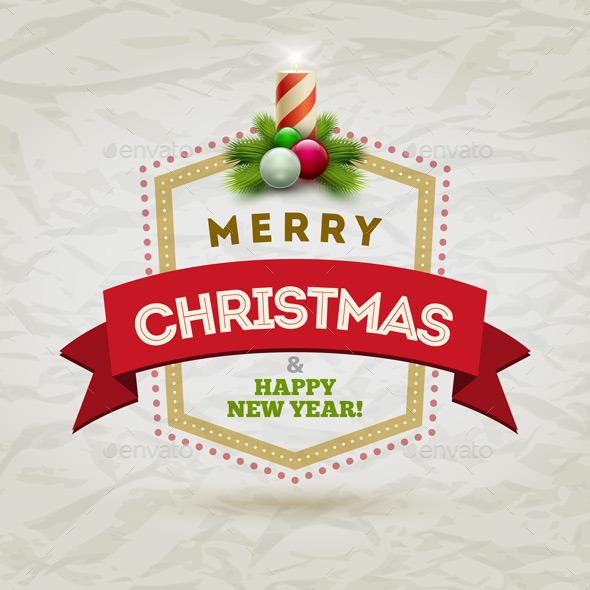 GraphicRiver Modern Christmas Badge 9424304