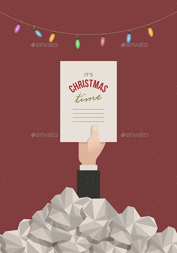 GraphicRiver Overtime Christmas in Office 9424363