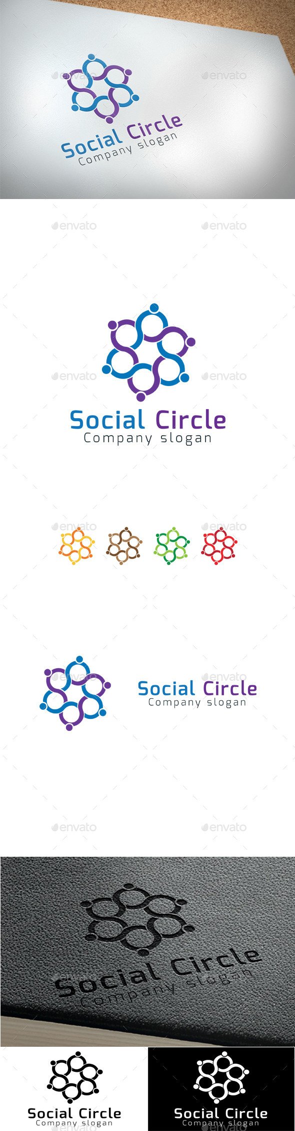 GraphicRiver Social Circle 9424505
