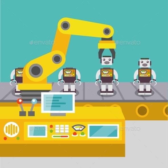 GraphicRiver Robotic Arm Concept 9424843