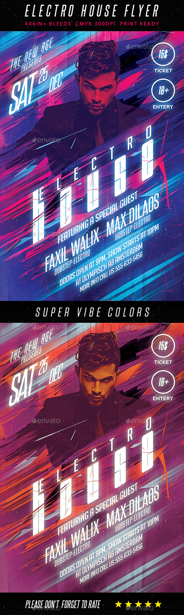 GraphicRiver Modern Electro House Flyer 9425050