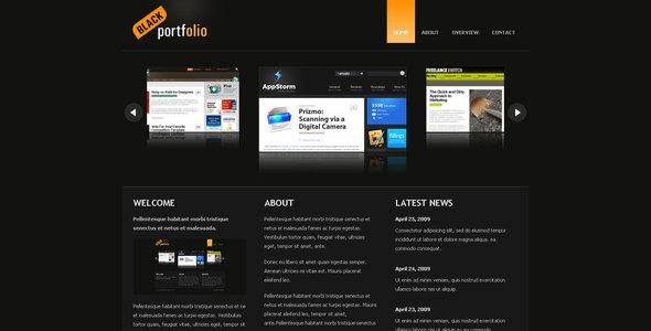 BLACK PORTFOLIO - Portfolio Creative