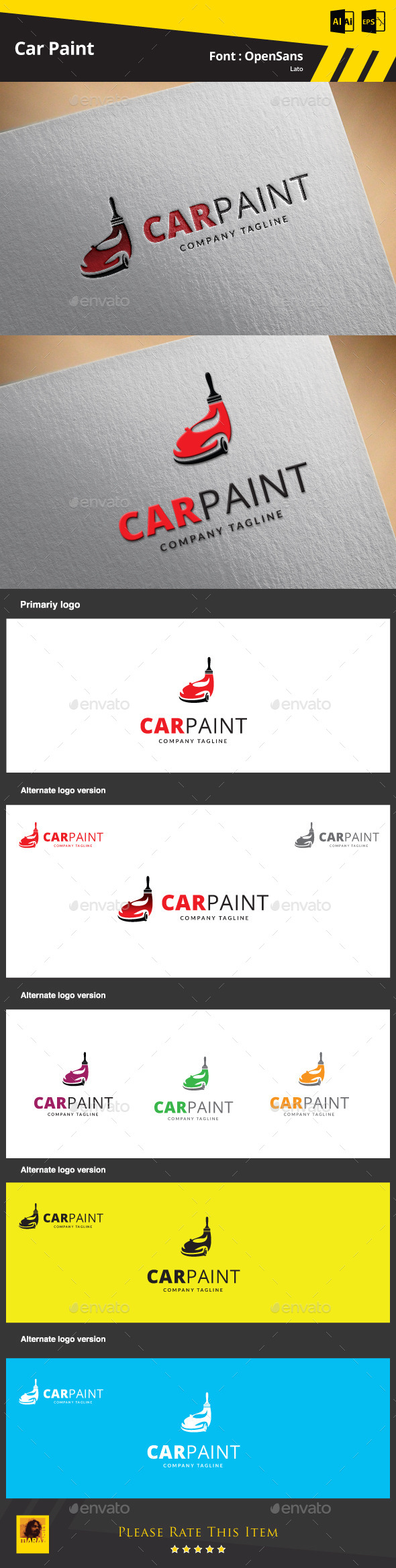 GraphicRiver Car Paint Logo Template 9425328