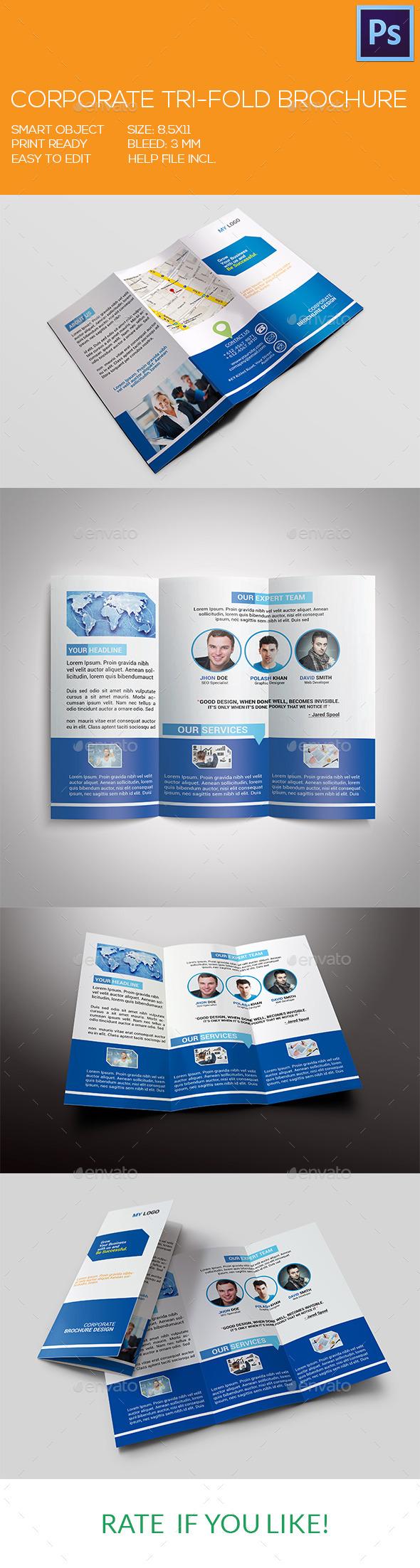 GraphicRiver Corporate Tri-Fold Brochure 9371191