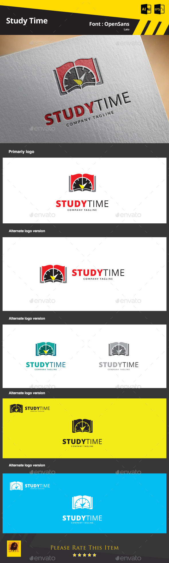 GraphicRiver Study Time Logo Template 9425463